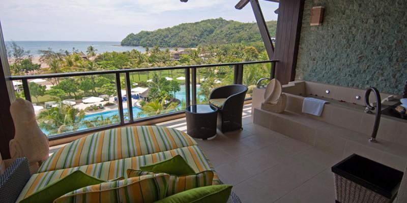 Terrace of Luxury Hotel